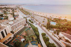 Vistas de la playa del hotel palas pineda, tarragona